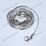 Stainless Steel Flat Oval Link Chains for Pendant Necklaces (IO-stc002)