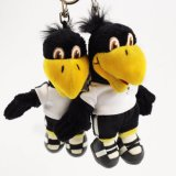 Black Leather 12cm Small Parrot Plush Toy