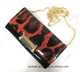 Lady′s Leopard Print Shoulder Bag/Women Wallet/ Mini Chain Clutch