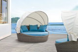 Romantic Outdoor Furniture Sun Loungers Rattan Daybed