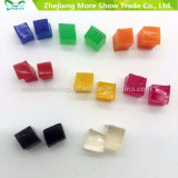 Factory Supplier Square Crystal Soil Flowers Vase Water Mud Jelly Beads