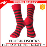 Women′s Stripe Breathable Soft Cotton Casual Socks Custom Socks