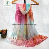 Long Size All-Match Sakura Printing Fashion Fashion Lady Silk Scarf