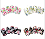 Fashionable Flower Temporary Water Transfer Nail Sticker