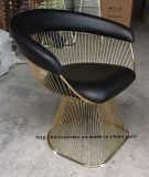 Metal Dining Leisure Restaurant Cushion Outdoor Steel Wire Chair