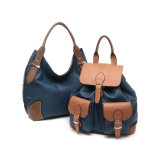 Preppy Style Contrast Colors Flap Women Backpacks (MBNO043027)