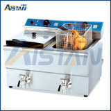 Df10L-2 Electric Fryer with Valve with 2 Tanks 2 Baskets