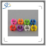 10 Colors Customized Plastic Band Clip Poultry Legs Ring