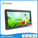 15.6 Inch Wall Mount Video Player Digital Frame IPS Screen with USB