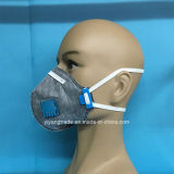 Folded Active Carbon Dust Protective Mask in Industrial Area