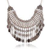 Fashion Tassel Coin Chokers Statement Necklace Jewelry