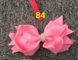 Bowknot Fashion Decorative Metal Silver Hairpins for Children 84