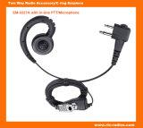 Walkie Talkie C Ring One Wire Earhook Earpiece with Inline Ptt/Microphone