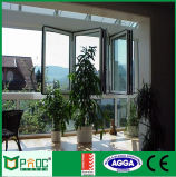 Cheap Aluminium Glass Folding Window with Double Glass