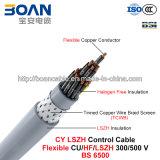 Cy LSZH Control Cable, 300/500 V, Flexible Cu/Hf/Petp/Tcwb/LSZH (BS 6500/BS EN 50525-3-11)