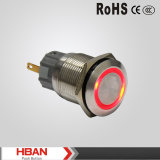 19mm Anti Vandal Metal Momentary Pushbutton Switch with Ring LED
