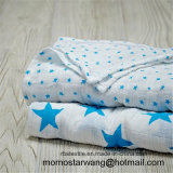 Custom Made Muslin Cotton Baby Blanket with High Quality