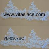 White Rayon Wedding Lace Trim with Cording&Beading Vb-0307bc