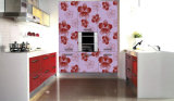 Kitchen Furniture Wooden Cabinet with Pattern Design (ZH-9620)
