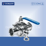 Ss 304 Clamped Non-Retention Ball Valve with Manual Handle