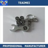 Metal Chrome Wheel Stem Car Tire Valve Caps With Keychain