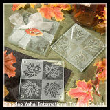 4mm Wedding Decorative Clear Tempered Glass Coaster