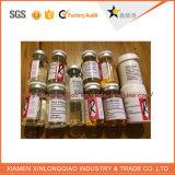 Customized Chemicals Transparent Glass Bottle Sticker, Glass Sticker Label