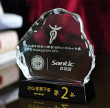 Crystal Iceberg Trophy with Custom Logo (KS04150)