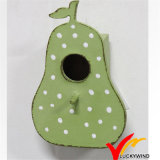 Shabby Chic Green Pear Wooden Bird House