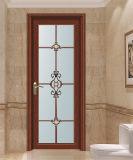 High Quality Wooden Color Aluminum Bathroom Door