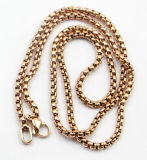 Fashion Rose Gold Plated Stainless Steel Sq Pearl Chain