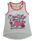 Beautiful Cute Girl Knit Vest in Children Girl T-Shirt with Camisole (SV-027)