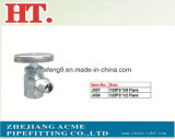 Chrome Plating Forged Flare Brass Angle Valve with Zinc Handle