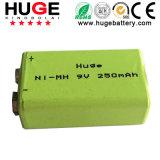 9V 250mAh Ni-MH Rechargeable Battery (9V)
