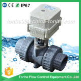 "Ce IP67 2-Way 3/4"" Inch Electric Actuator Motorized PVC Ball Valve"