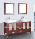 "72"" Double Sink Solid Wood Bathroom Vanity Cabinet"