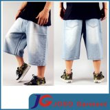 Street Trendy Light Blue Boys Hiphop Baggy Short Jeans (JC3352)