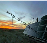 2kw Wind Turbine + 5PCS Solar Panels Power for Mountain Area