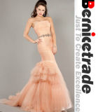 New Champage Net Mermaid Wedding Bridal Dresses Evening Wear