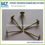 Yellow Zinc Twisted Shank Umbrella Head Roofing Nail