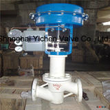 Pneumatic Fluorine Lined Single Seat Control Valve with Bellows