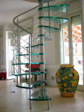 Modern Glass Spiral Stairs High Quality Glass and Stainless Steel Staircase