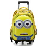 Kids Children 3D Cartoons Detachable Trolley School Bag Backpack
