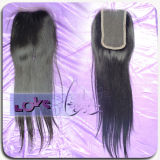 Top Quality Soft and Straight Lace Human Middle Parting Hair Closure
