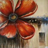 High Quality Pure Hand-Painted New Design Red Floral Painting Custom Oil Paintings (LH-125000)