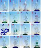 OEM ODM Hebei Corona Factory Handcrafted Heady Green Glass Unique Oil Rig Bubbler Glass Smoking Water Pipe