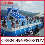 Swimming Pool with Slide, Frame Pool Slide, Mobile Pool, Pool Park