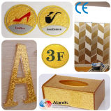 Thick 30mm 4′*8′ Pattern Golden Glitter Acrylic Sheet