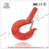 Painted Red Forged Shank Hook with Latch