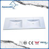 Sanitaryware Double Bowl Polymarble Vanity Top Acb1246A